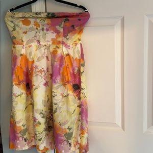Strapless cotton dress